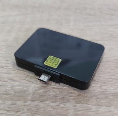 Карточетец през телефон - mini USB